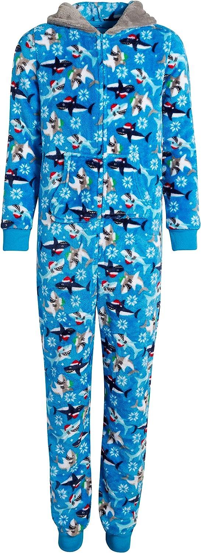 Only BoysPlush FleeceOnesie Pajamas with Character Hood (Toddler/Little Boy/Big Boy)