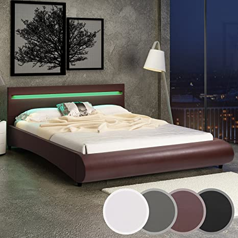 Miadomodo Letto con Illuminazione LED in Similpelle 160 x 200 cm ...