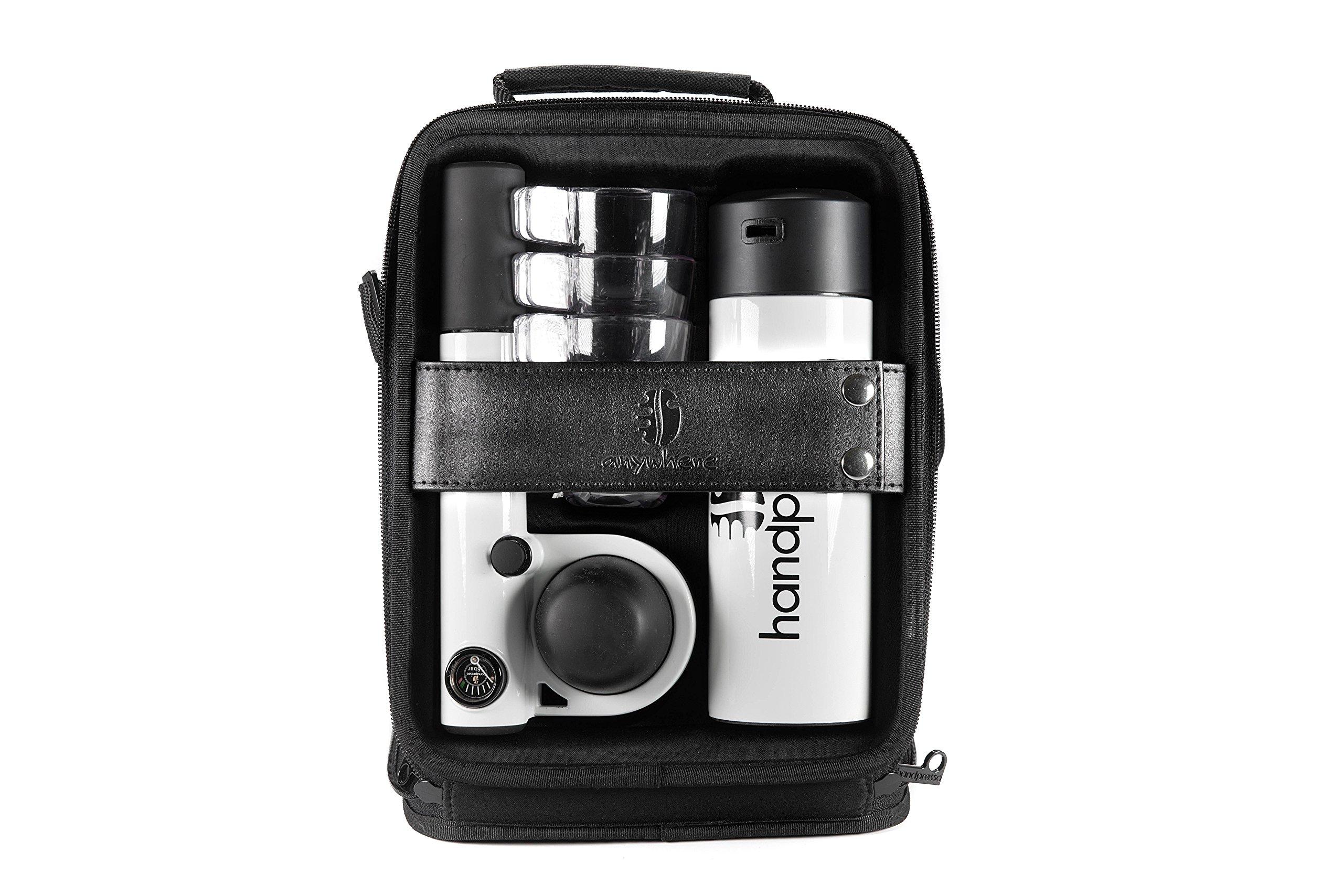 Handpresso HPOUTDOORCMPLT-WHT Pump Espresso Machine Outdoor Set, White