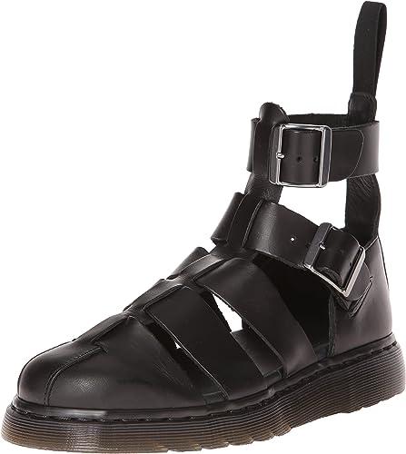 Dr Martens Geraldo ankle strap sandals in black | Ankle