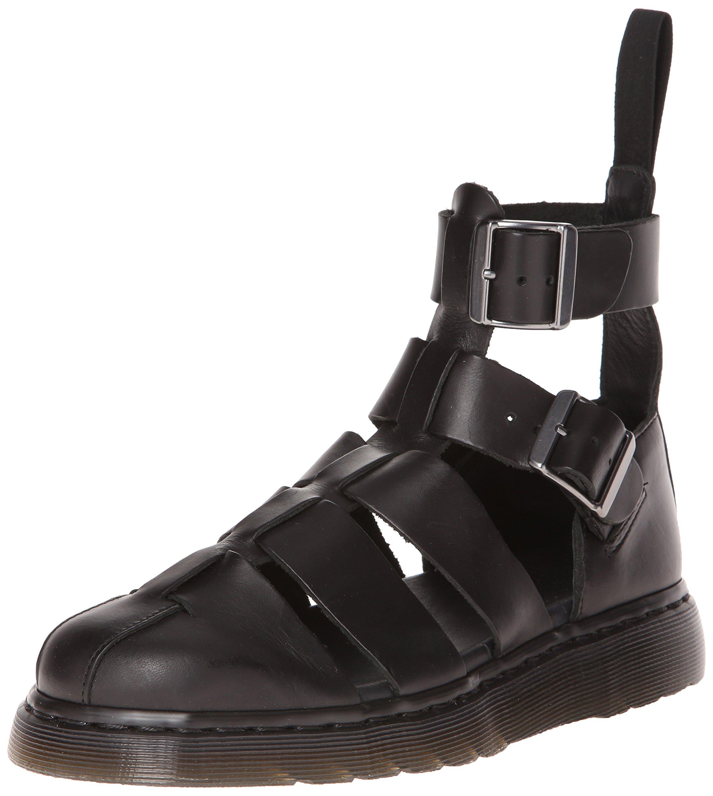 Dr. Martens Men's Geraldo Ankle Strap Sandal Black Brando 3 UK