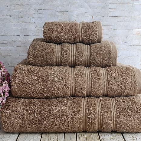 irya Juego de toallas de mano (Core Soft Classy marrón – 90 x 150 cm