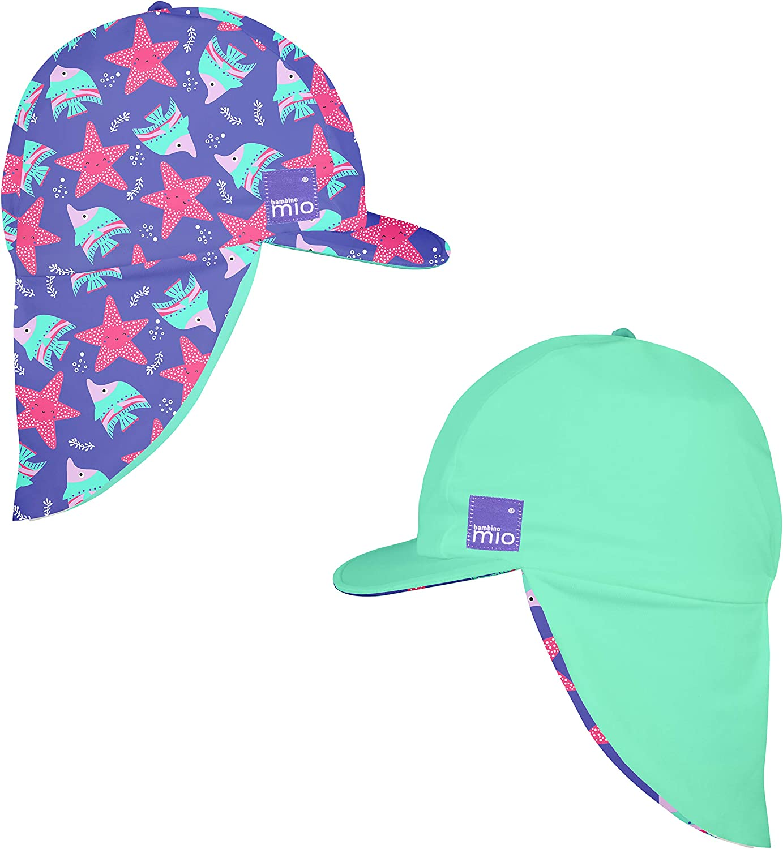 Large//X-Large Bambino Mio Reversible Swim Hat Violet 1-2 Years+