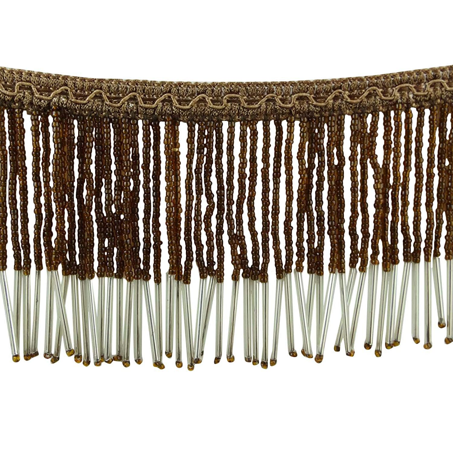 Decorative Beaded Fringe Trim Upholstery Ribbon Curtain Craft Supply By The Yard Knitwit
