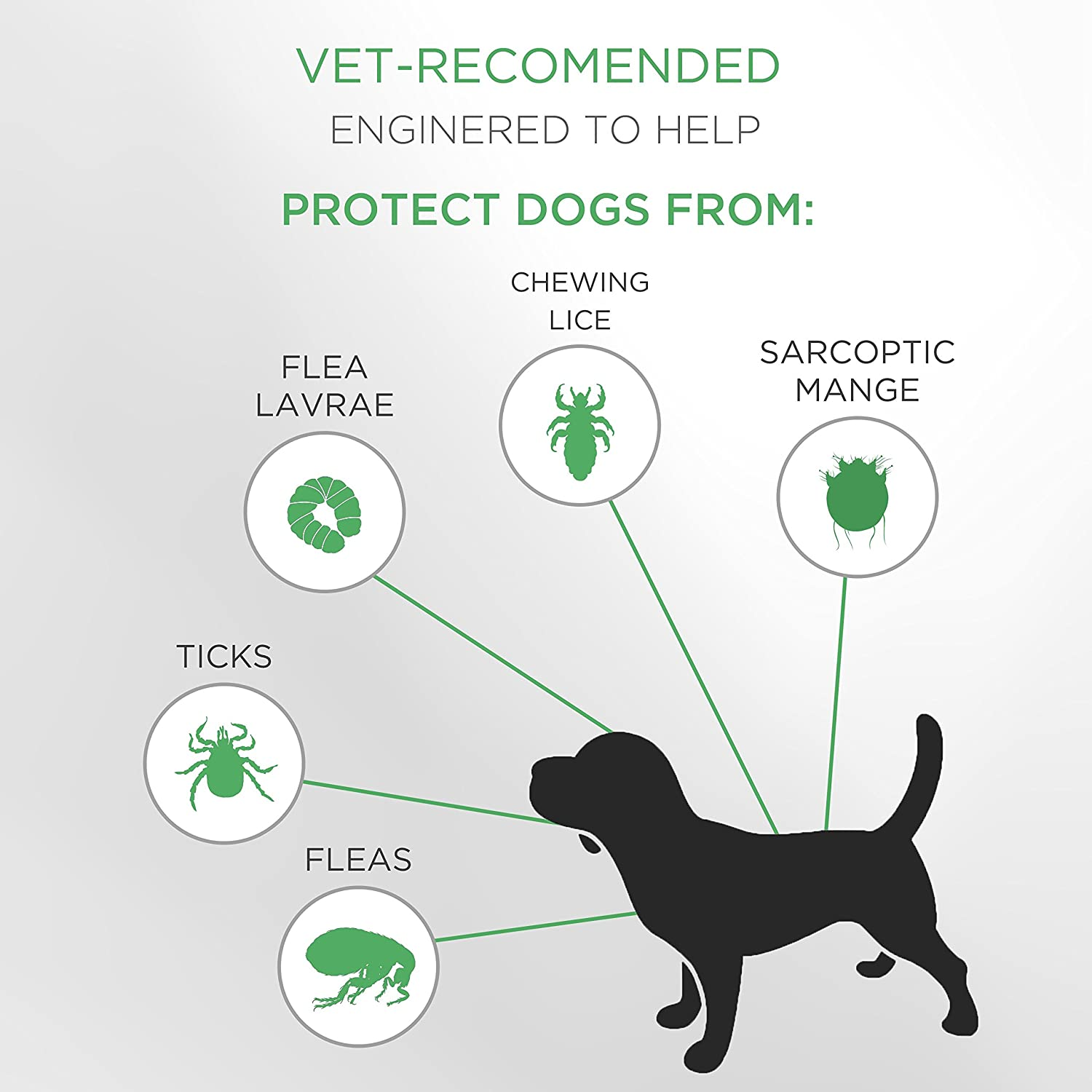SOBAKEN Flea and Tick Prevention for Dogs, Natural and Hypoallergenic Flea and Tick Collar for Dogs, One Size Fits All, 25 inch, 8 Month Protection, Charity : Pet Supplies