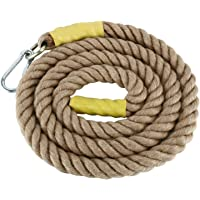 YAETEK Heavy Duty 10/13 Feet Gym Climbing Ropes with Carabiner for Adult Improve Grip and Increase Power
