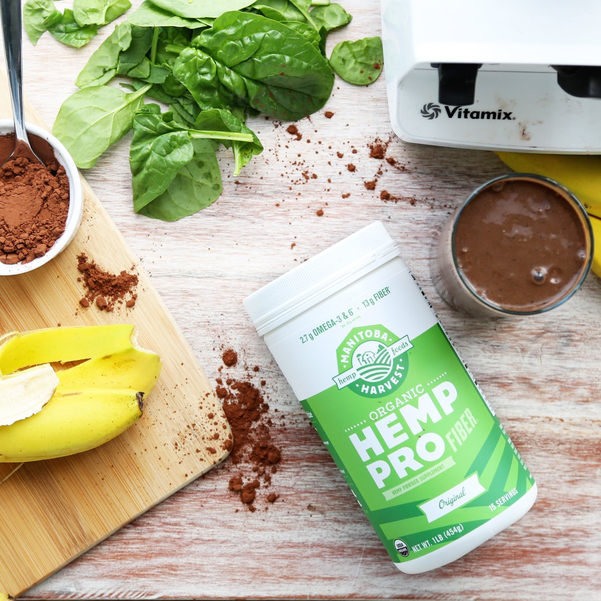 Manitoba Harvest Organic Hemp Pro Fiber plus Protein Supplement, 32 Ounce; 13 grams of fiber per serving