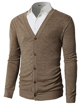 3350957517 H2H Mens Merino Wool Aran Button Men s Sweater by Westend Knitwear Beige US  S Asia