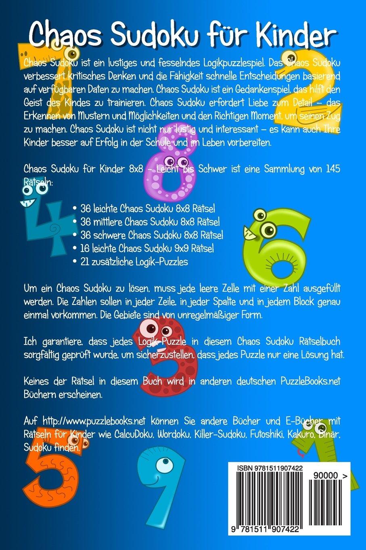 Amazon.fr - Chaos Sudoku für Kinder 8x8 - Leicht bis Schwer - Band 2 ...