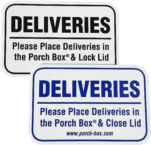Amazon.com: Cartel de entrega a domicilio: Jardín y Exteriores