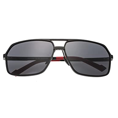 d208004afbb3e Amazon.com  Breed Fornax Aluminium Sunglasses - Black Black  Shoes
