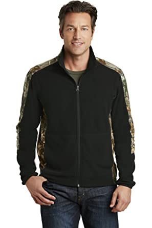 ab78f631d8d Port Authority Camouflage Microfleece Full-Zip Jacket. F230C Black   Realtree Xtra XS