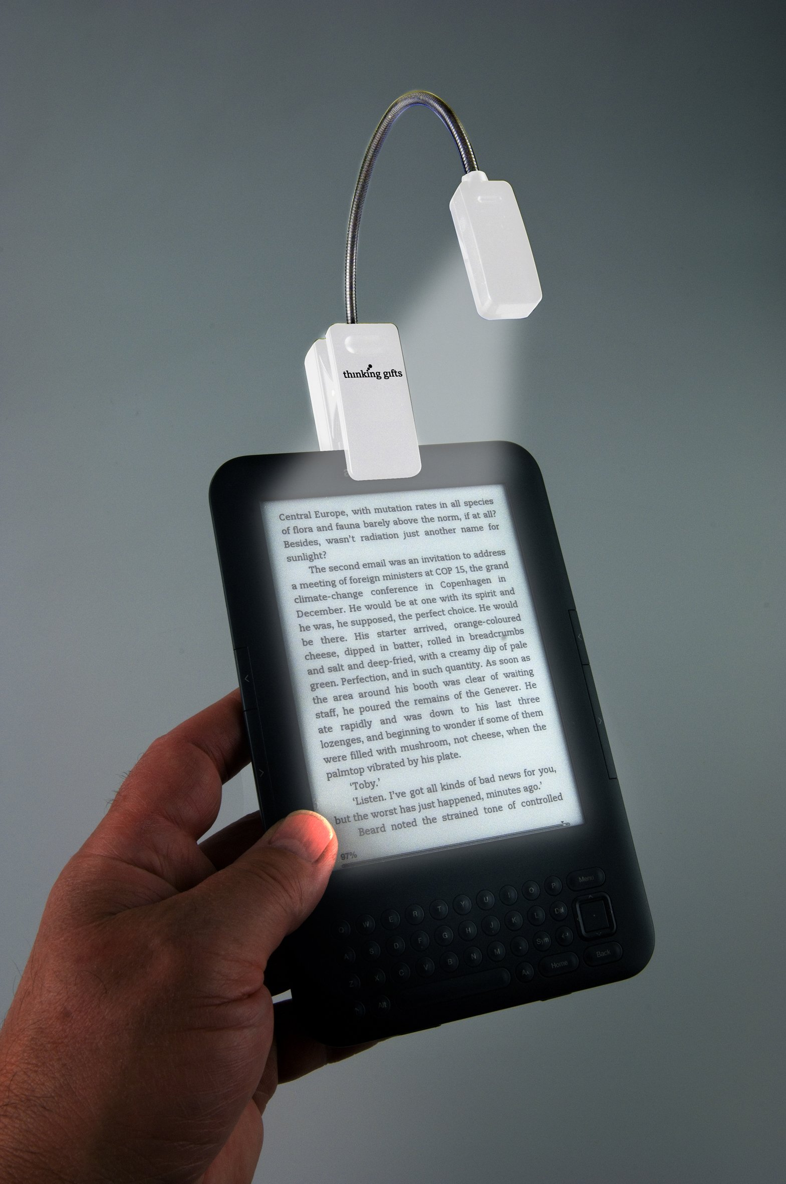 eBook Reader Booklight | Leselampe | Weiß: LED Leselicht mit Clip ...