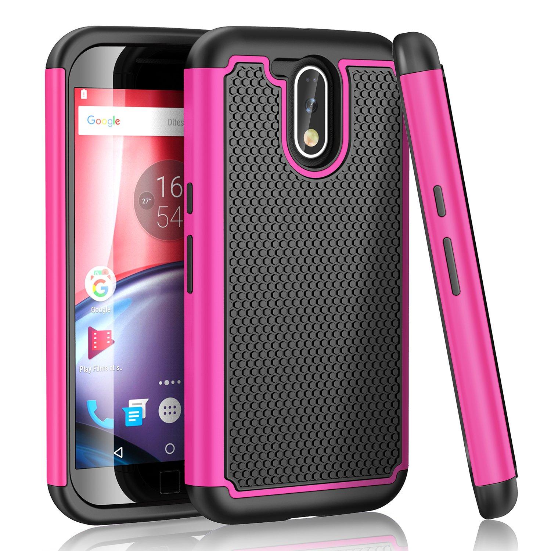 Funda Motorola Moto G4 Plus,HanLuckyStars, Funda TPU y PC para Moto G4/Moto G4 Plus Carcasa Motorola Moto G4 Plus con [Ultra ...