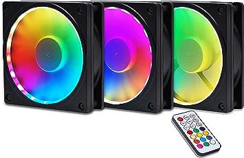 EZDIY-FAB Bastidor de Ventilador RGB con Montaje de Ventilador RGB ...