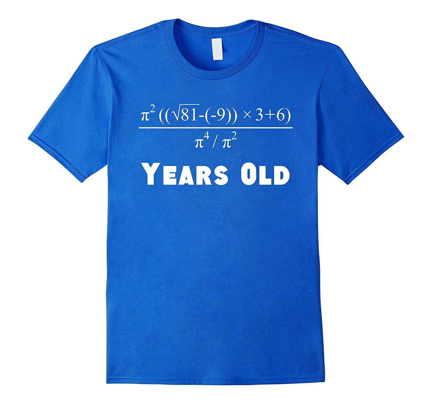 7039958b 60 Years Old Algebra Equation Funny 60th Birthday Math Shirt-TH ...