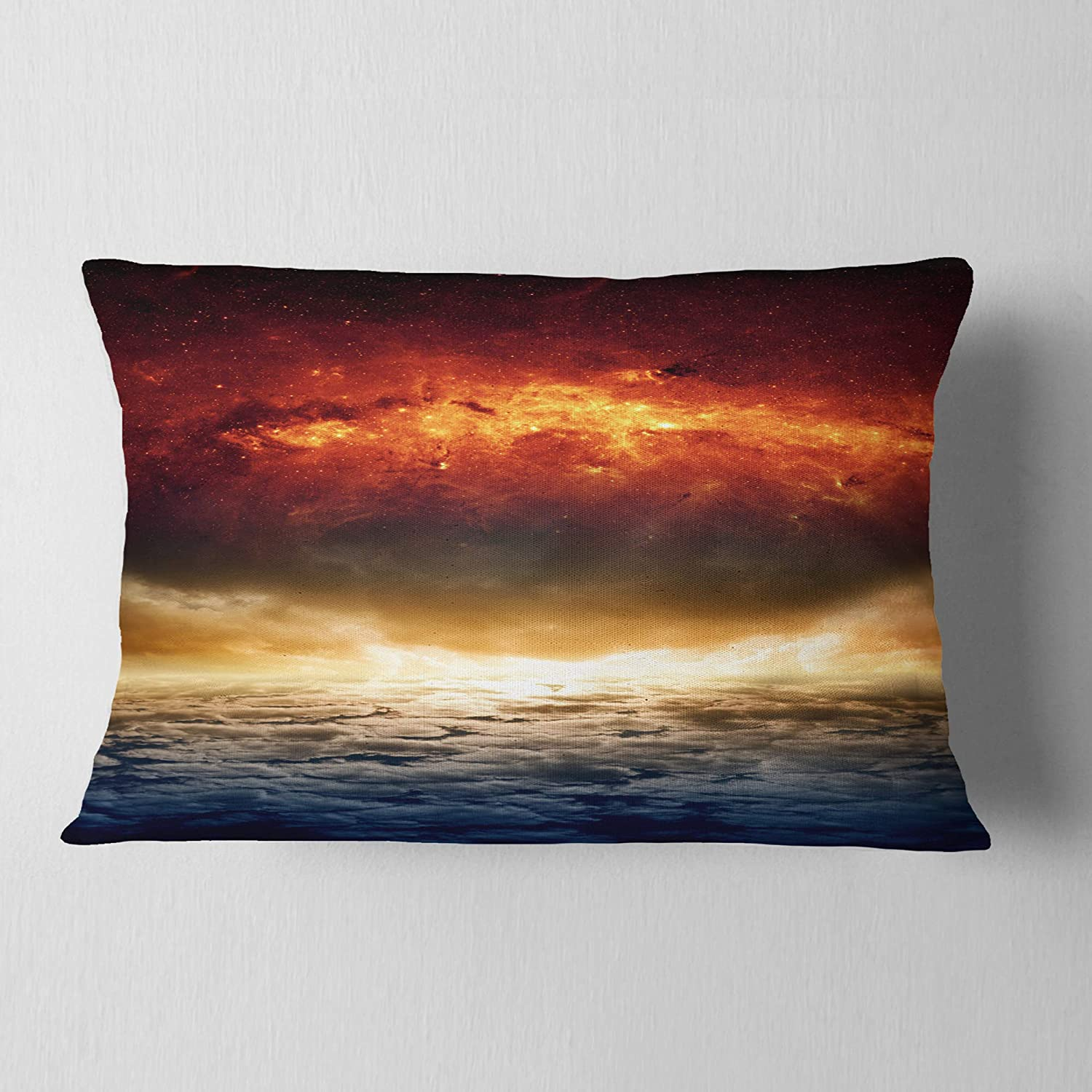 Designart CU8071-12-20 Dramatic Apocalyptic Design Spacescape Lumbar Cushion Cover for Living Room Sofa Throw Pillow 12 in in x 20 in Insert Printed On Both Side