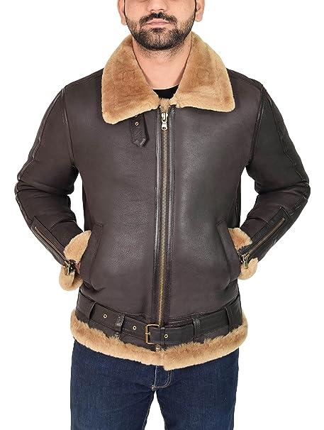 House Of Leather Chaqueta de Piel de Oveja para Hombre B3 Cuero de . 7b75b2a8c04