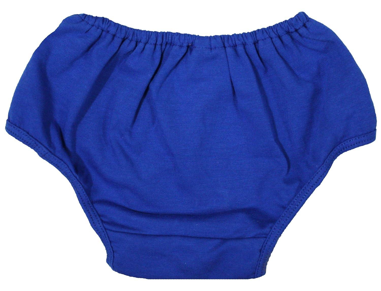 Petitebella Dress Plain Royal Blue Cotton Bloomer For Baby 6-24m NF00014