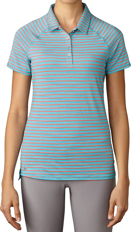 adidas Golf Mujer de Doble diseño de Rayas Polo de Manga Corta ...