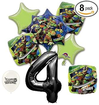 Amazon.com: Black Number 4th Birthday Teenage Mutant Ninja ...