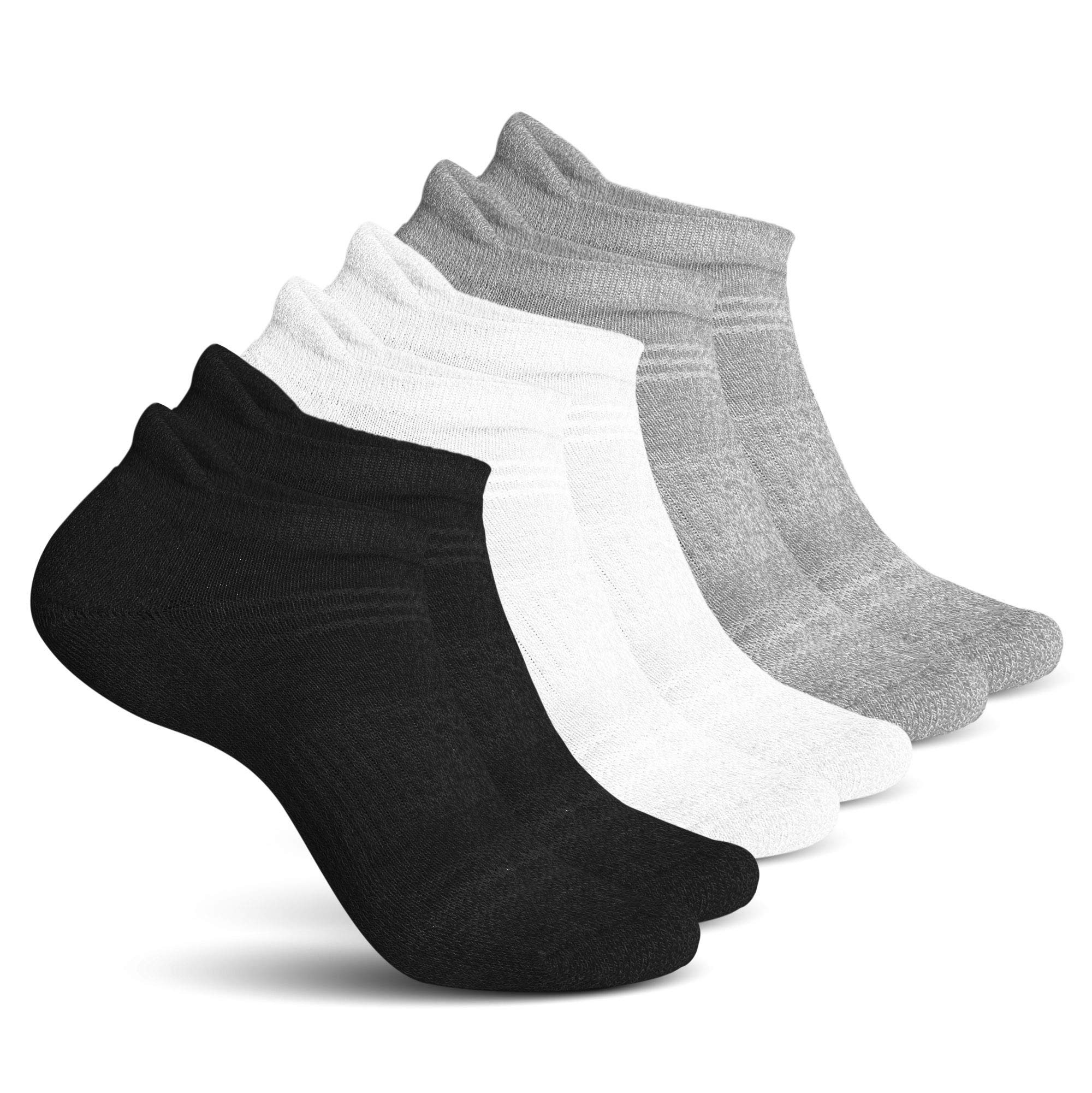 Athletic Socks for Women - Ladies Ankle Socks - No Show Low Cut Cushioned Performance Sports Tab Socks with Arch Support for Running, Hiking, Workout and More - Soft & Comfortable Fit - 6 Pack by Pembrook