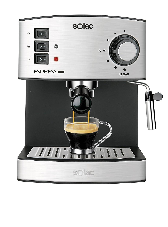 Solac CE4480Espresso-Macchina da caffè, capacità 1,25l, 19bar, vaporizzatore [Classe di efficienza energetica A] CE4480 Espresso