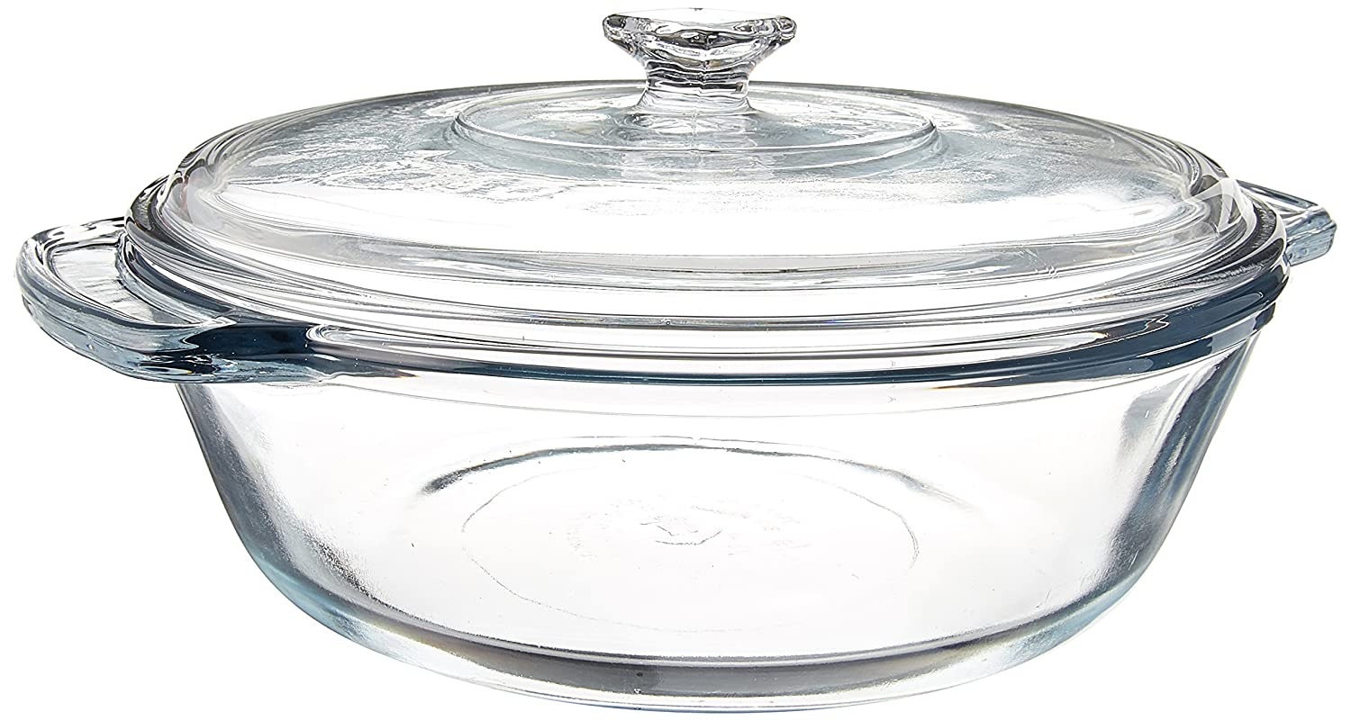 Anchor Hocking 2-Quart Oven Basics Casserole with Glass Cover, Set of 3