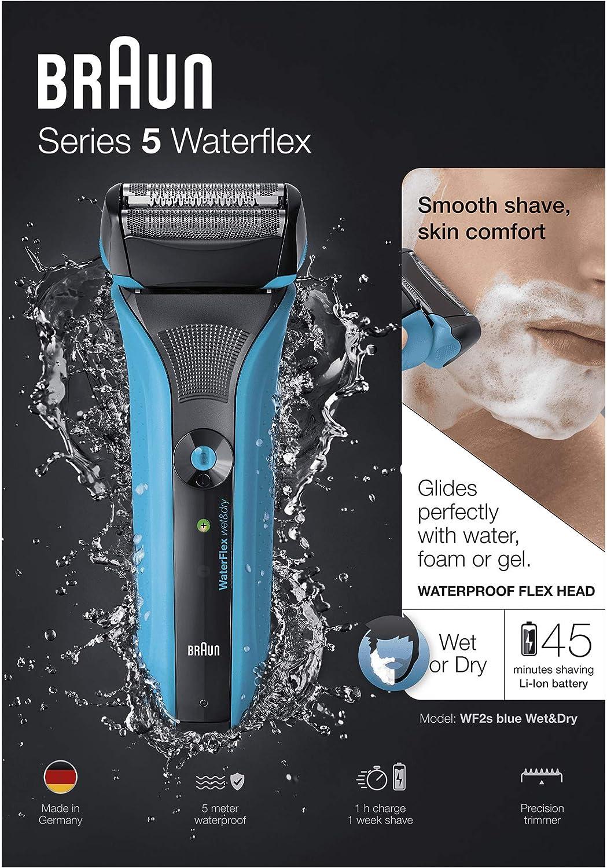 Braun Series 5 WaterFlex WF2s - Afeitadora eléctrica para hombre de lamina, en seco y mojado, máquina de afeitar barba inalámbrica: Amazon.es: Salud y cuidado personal