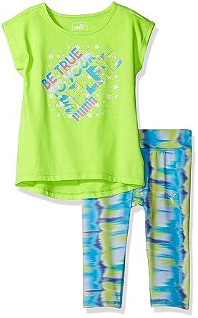 b2e4ccc73560f2 Amazon.com  PUMA Girls  2-Piece Tee and Legging Set  Clothing