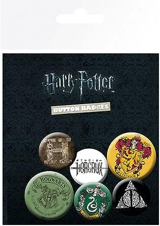 Harry Potter Official - Pines tipo botón (Paquete de 6)