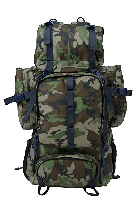 15886b48d2a4d F Gear Military Neutron Polyester 50 Ltrs Woodland A Camo Rucksack (2795)   Amazon.in  Bags