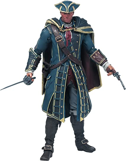 Amazon Com Mcfarlane Toys Assassin S Creed Haytham Kenway Action Figure Toys Games
