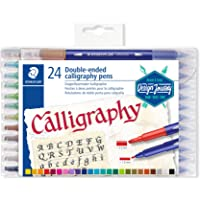 STAEDTLER Double Ended Calligraphy Pens 24-Pieces, multicoloured, pack of 24 (3005 TB24 ST)
