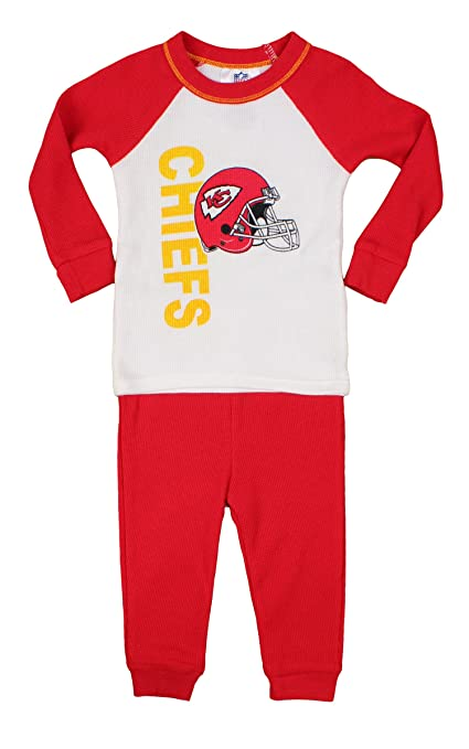 4cda352b Kansas City Chiefs NFL Infant Toddler Thermal Sleepwear Pajama Set, Red