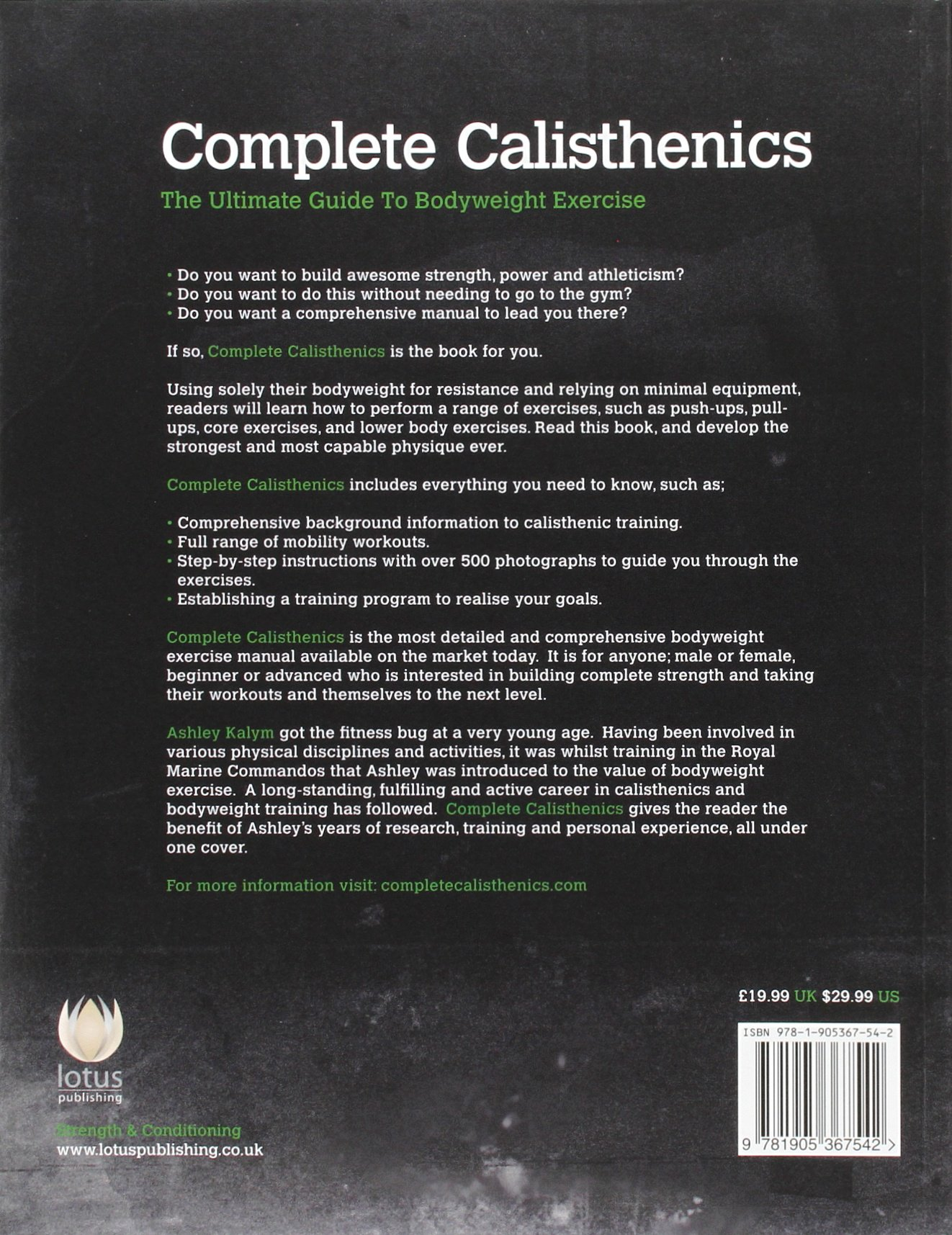Complete calisthenics the ultimate guide to bodyweight exercise complete calisthenics the ultimate guide to bodyweight exercise amazon ashley kalym libri in altre lingue fandeluxe Image collections