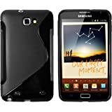 mumbi Protective Case TPU Silicone for Samsung Galaxy Note N7000–Black