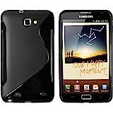 mumbi silicone TPU Coque Samsung Galaxy Note N7000 - Étui Housse Case noir