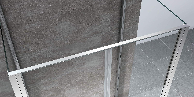 Cabina de ducha 3 lados 2 ventanas fijos laterales + 2 puertas ...