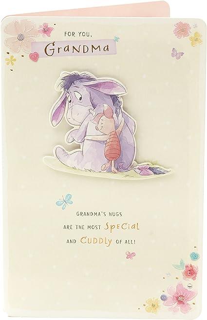 Disney Carte D Anniversaire Pour Grand Mere Winnie L Ourson Avec Bourriquet Et Porcinet Amazon Fr Fournitures De Bureau