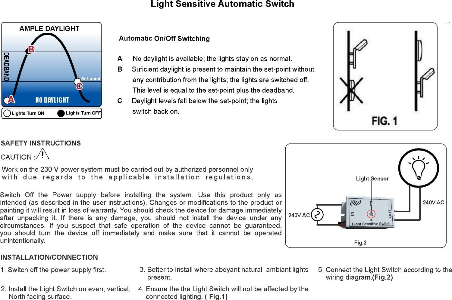 Day Night Switch Light Sensor Automatic Home 5 Best Images Of Photocell Wiring Diagram Automation