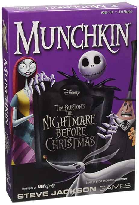usaopoly nightmare before christmas board game inc mn004 261 18 - Nightmare Before Christmas Board Game