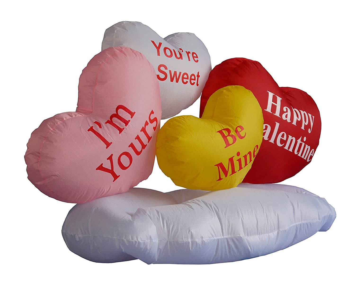 1734c55705d02 5 Foot Inflatable of Valentine's Day Hearts & Cloud - Yard Blow Up ...