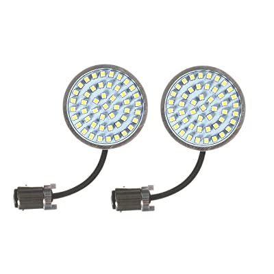 Eagle Lights Generation II Front LED Turn Signals with White Running Lights for Harley Davidson Motorcycles, 2-Inch Bullet Style Turn Signals: Automotive