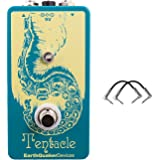 EarthQuaker Devices EQDTENT Tentacle Analog Octave Up Effects Pedal with a Pair of R-Angle Patch Cables for Guitars Pedals