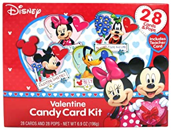 Amazon Com Disney Character Valentine S Day Card Exchange Kit With