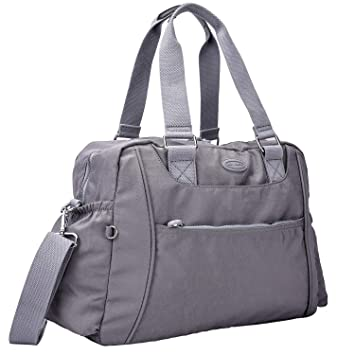 90363c26d27776 Amazon.com | Nylon Travel Tote Cross-body Carry On Bag with shoulder strap  (Grey) | Travel Totes