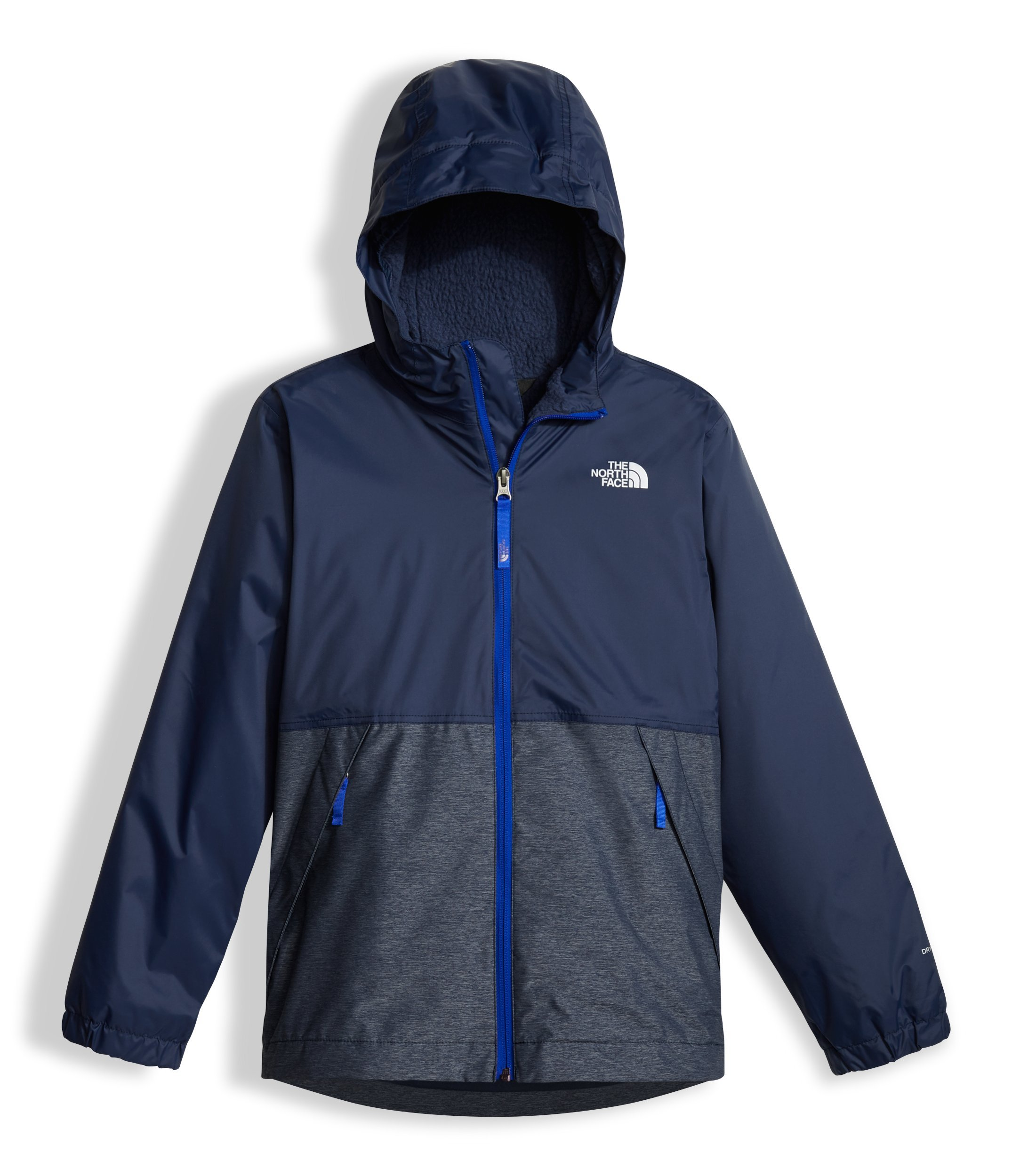 The North Face Boy's Warm Storm Hooded Jacket - Cosmic Blue - S (Past Season)