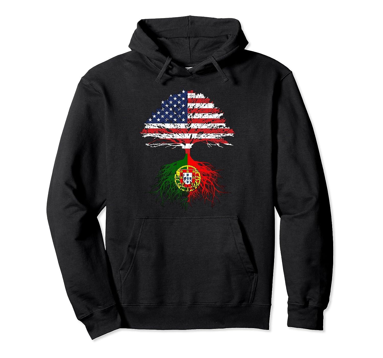 Portuguese Roots American Grown Portugal Flag Hoodie Gift-Samdetee