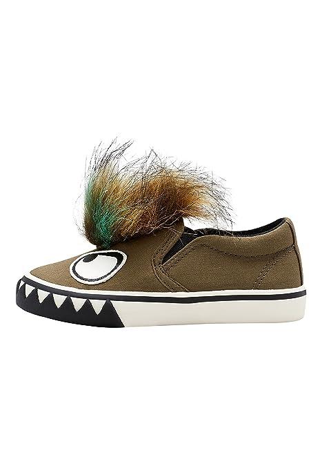Sneakers kaki con stringhe per bambini Next d76PHqF8t